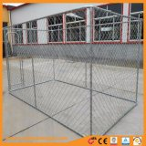 Canil provisório galvanizado do cão da cerca da câmara de ar redonda ao ar livre