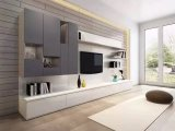 削片板が付いている台所のための最も普及した適当で光沢度の高いラッカー食器棚