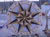 ロビーの円形浮彫りパターンタイル