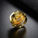 De nieuwe Gouden Ring van het Ontwerp van de Bloem van de Manier zonder Steen