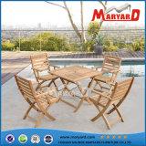 Стулы Teak мебели сада твердой древесины 100% складывая & обедая таблица