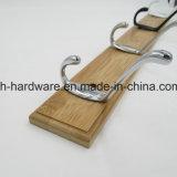 Горячая Продажа красивых крючок для одежды деревянные и металлические платы крюк (ZH-7035)