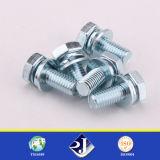 Parafuso Hex galvanizado do aço de carbono de Grade8.8 DIN931/933/6921