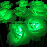 LED das luzes de flor rosa Artificial decorações de grama de Natal