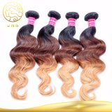 8Aは加工されていないブラジルの毛のバージンの人間のWeavonの毛のよこ糸を卸し売りする
