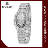 Belbi Fashion Diamond Watch de Luxe ovale étanche pleine Série Star analogique quartz watch