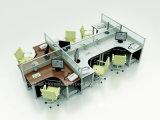 Verdeling van het Werkstation van het Aluminium van het Bureau van de manier de Lineaire met Glas (HF-YZ028)