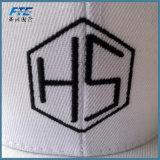 Logotipo bordado plano blanco tapa Snapback Caps deportivos personalizados