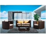 All Weather Aluminium Meuble en rotin en maille en rotin Meuble de jardin Ensemble canapé par double et simple et table à café (YT231)