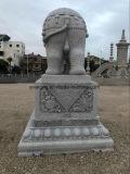 Granito naturale e marmo che intagliano la grande statua dell'elefante per personalizzato