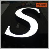 Panneau acrylique allumé par face de signe extérieur de DEL