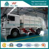 Sinotruk HOWO 4X2 Rear Loading Compressed Garbage Truck 14 Cbm