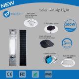 Solar de 100W luz LED de exterior Lámpara de jardín con sensor de movimiento