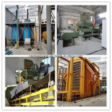 Cadena de producción del tablero de madera aglomerada del conglomerado de la carpintería de la combinación, prensa hidráulica de la tablilla del alcanfor que hace la máquina