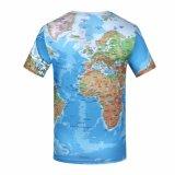 Marque T Shirt pour hommes carte du monde Tee-shirts Tee 3D