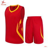 Basket-ball rouge ordinaire bon marché simple uniforme Jersey de sublimation de basket-ball neuf du modèle 2015