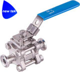 "valvola a sfera 3-Piece, tri Clamp1-1/2 sanitario "" inossidabile, 1000 PSI"