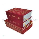 Service d'impression de dictionnaire de reliure de casier de liaison de tissu (jhy-377)