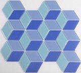 Mosaico de cristal de fusión azul del estilo de la piscina