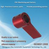 Les pièces de usinage de fraisage de commande numérique par ordinateur d'aluminium de précision d'usine avec le rouge anodisent