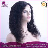Parrucca cinese del merletto della parte anteriore dei capelli del Virgin dell'onda riccia lunga media