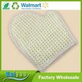 Sisal exfoliante frotando toalla baño guantes para el cuidado de la piel