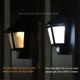 庭のための防水太陽軽い動きセンサー六角形LEDの軽い壁ランプ夜ライト