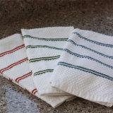 物質的な綿が付いている柔らかいホーム台所タオル