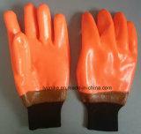 Handschoenen van de Veiligheid van het Werk van de Voering van het Kasjmier van de Winter van pvc de Warme