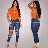Новый тонкий сверления с возможностью горячей замены тонкие джинсы женщин брюки