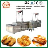 Máquina continua frita del ala de pollo que fríe del equipo del pollo