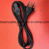 cable eléctrico negro del Brasil de la aprobación del 1.5m Inmetro con IEC C13