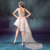 Form-Abend-Kleid-Braut-Bankett-Rosa-Spitze