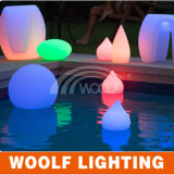 Flotante 16 colores impermeable IP65 recargable RGB LED Pool Ball