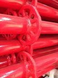 Échafaudage de baguage en poudre rouge horizontale revêtue de Chine