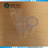 Tubo redondo del plexiglás transparente con talla de encargo