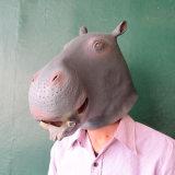 Le type animal de Gangnam de support de costume de latex de masque de tête de cheval joue le masque de Veille de la toussaint d'usager