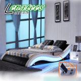 A021-1音楽的なプレーヤーシステムが付いているさまざまな寝室の家具の現代ベッド