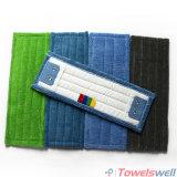 Microfiber bleu frottant la lavette à plat humide avec la poche