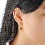 Дамы аксессуары желтого золота Большой Камень Dangle Earring