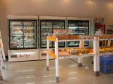 Pastel de cristal expositor frigorífico comercial