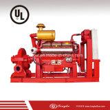 Bomba de água Emergency da luta contra o incêndio da lista do UL com motor Diesel