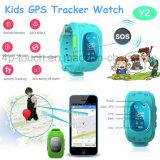 2g GSM GPS van Kinderen het Horloge van de Drijver met de Groef van de Kaart SIM (Y2)