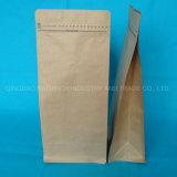 1000 g café bolsa sellable de almacenamiento de 2lb de café bolsas de papel Kraft marrón con válvula de café bolsas de papel