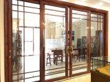 グリルの装飾が付いている振動ドアを滑らせるAlimunumの開き窓