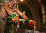 니트릴에 의하여 입히는 충격 방지 대나무 섬유 안전 광업 일 장갑