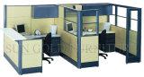 Modernes L Form-Schreibtisch-Büro-Arbeitsplatz-halbe Partition (SZ-WST803)
