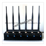 6 Bandes dcs GSM 3G 4G-LTE (pour l'Europe) WiFi GPS-L1 Jammer UHF VHF