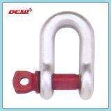 Type jumelle d'attache de Pin de vis d'acier allié de chaîne