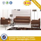 Sofà di cuoio dell'unità di elaborazione dell'ufficio vendite del teck caldo della mobilia (HX-CS096)